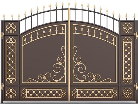 Ворота кованые «Словения»